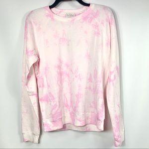 Lucky Brand NEW Pink Tie Dye Crewneck Sweatshirt